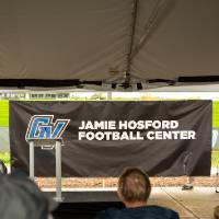 President Haas at the Jamie Hosford Football Center Expansion Site Celebration